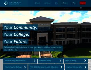 calhoun.edu screenshot