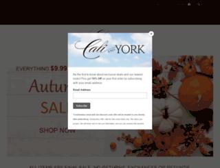 caliandyork.com screenshot