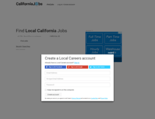 californiajobs.com screenshot