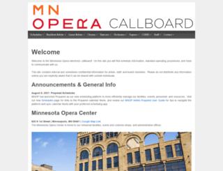 callboard.mnopera.org screenshot