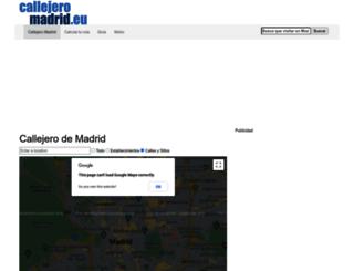 callejeromadrid.eu screenshot