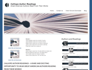 calliopeauthorreadings.com screenshot