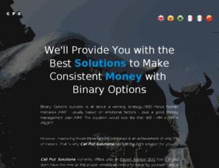 callputsolutions.com screenshot