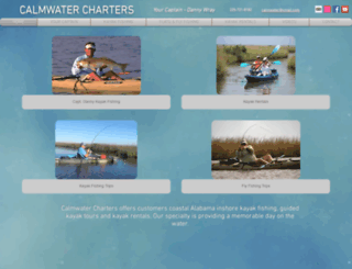 calmwatercharters.net screenshot