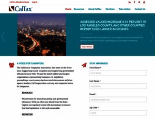 caltax.org screenshot