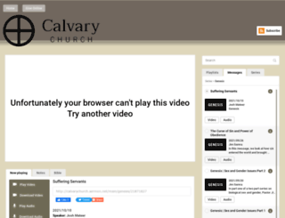 calvarychurch.sermon.tv screenshot