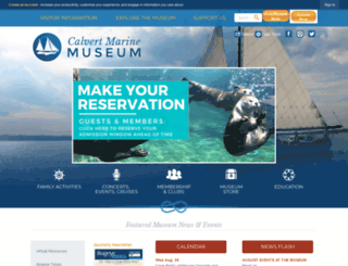 calvertmarinemuseum.net screenshot