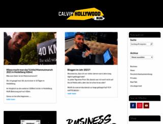 calvinhollywood-blog.de screenshot