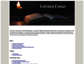 calvinistcorner.com screenshot
