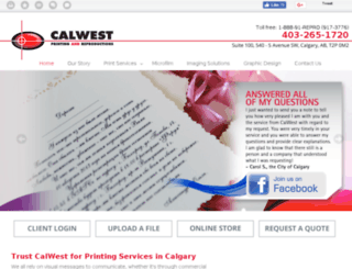 calwestprinting.com screenshot