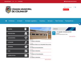camaracolina.sp.gov.br screenshot