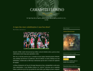 camaroteleonino.blogs.sapo.pt screenshot