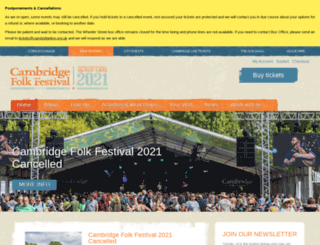 cambridgefolkfestival.co.uk screenshot