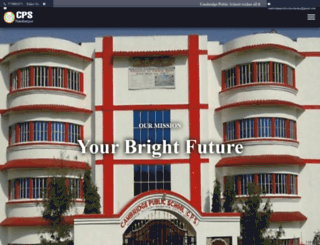 cambridgepublicschool.co.in screenshot