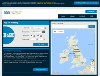 cambridgeshireparkandride.keyivr.com screenshot