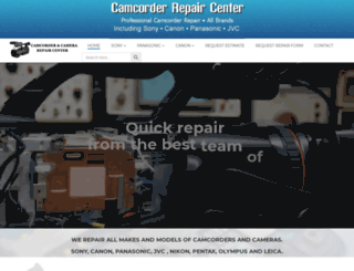 camcorderrepair.com screenshot