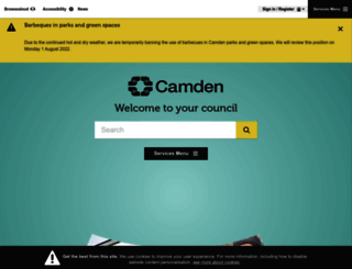 camden.gov.uk screenshot