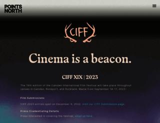 camdenfilmfest.org screenshot