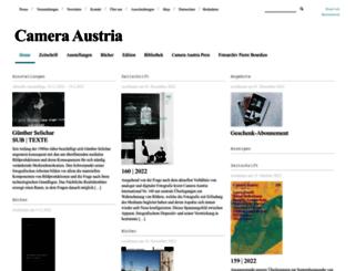camera-austria.com screenshot