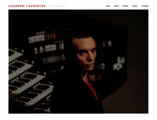 cameroncarpenter.com screenshot