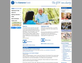 cameronfund.org.uk screenshot
