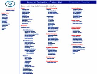 cameronpackaging.com screenshot