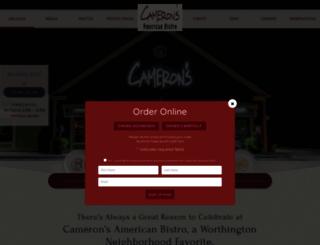 cameronsamericanbistro.com screenshot