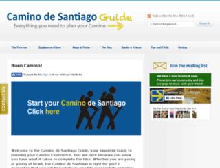 caminodesantiagoguide.org screenshot