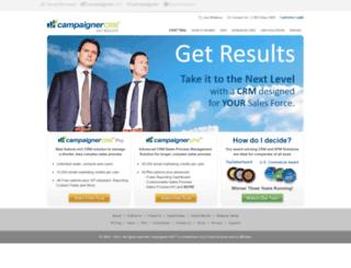 campaignercrm.com screenshot