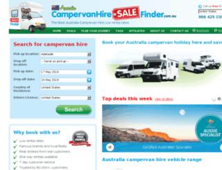 campervanhiresalefinder.com.au screenshot