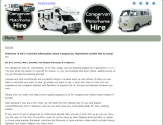campervanmotorhomehire.co.uk screenshot
