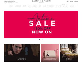 camphopson.co.uk screenshot