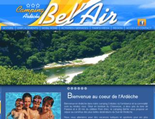camping-ardeche-belair.com screenshot