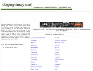 camping-gear-hiking-gear.shoppingvariety.co.uk screenshot