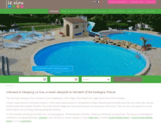camping-le-clou.com screenshot
