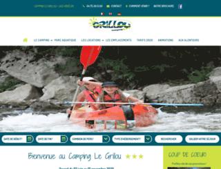 camping-legrillou.fr screenshot