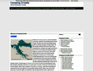 campingcroatia.net screenshot
