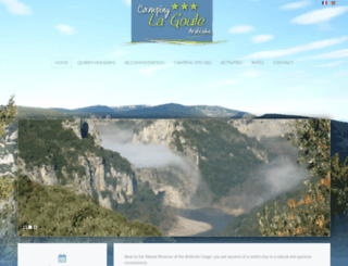 campinglagoule.com screenshot