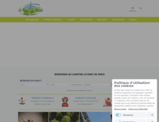 campingleparc.fr screenshot