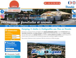 campinglesvagues.fr screenshot