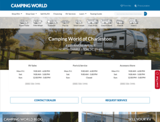 campingworldofcharleston.com screenshot