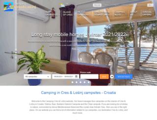 camps-cres-losinj.com screenshot