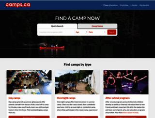camps.ca screenshot