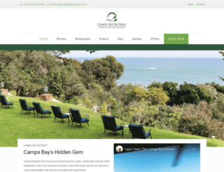 campsbayretreat.com screenshot