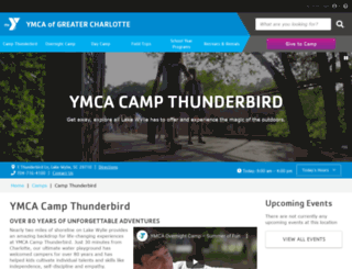 campthunderbird.org screenshot