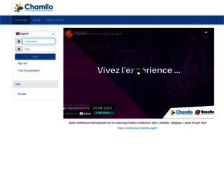 campus.chamilo.org screenshot