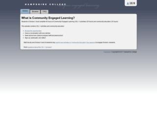 campusengagedlearning.hampshire.edu screenshot