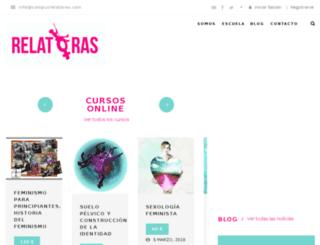 campusrelatoras.com screenshot