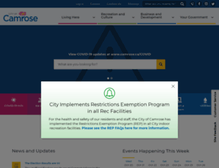camrose.org screenshot
