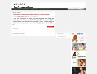 canada-information.blogspot.com screenshot
